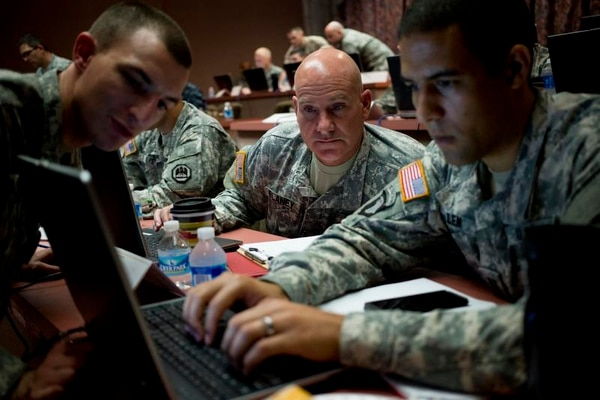 The Department of Defense is continuing to work through the process of elevation Cyber Command to a full unified combatant command out from under Strategic Command. (Georgia Army National Guard photo by Staff Sgt. Tracy J. Smith)