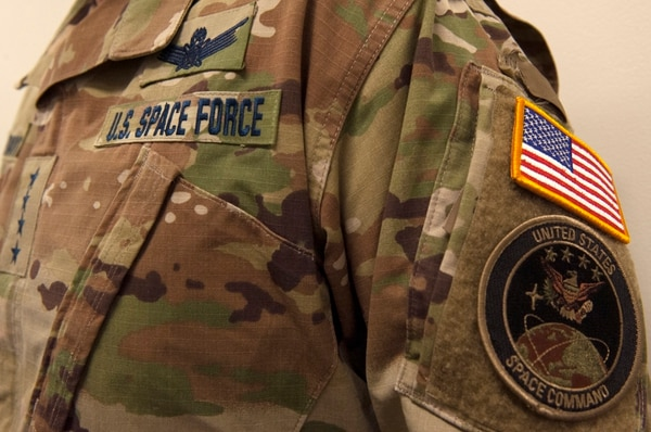 The Space Force is the sixth branch of service that was established during the signing of the National Defense Authorization Act on Dec. 20, 2019. (Tech. Sgt. Robert Barnett/U.S. Air Force)