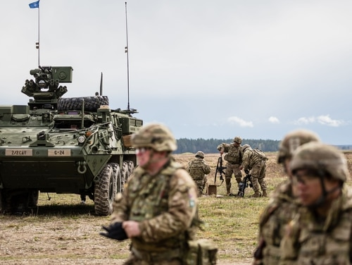 Additional American troops will join an existing force of 4,500 in Poland. (Wojtek Radwanski/AFP/Getty Images)