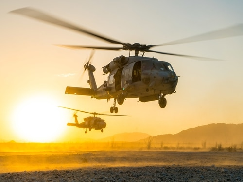 The Firehawks of Helicopter Sea Combat Squadron 85 training in 2016. (MC2Chad M. Butler/Navy)