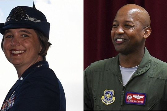 Lt. Col. Kristen Shadden, head of the 7th Aircraft Maintenance Squadron at Dyess Air Force Base in Texas, and Col. Jaron Roux, commander of the 437th Airlift Wing at Joint Base Charleston, S.C., have been relieved of command. (Air Force)