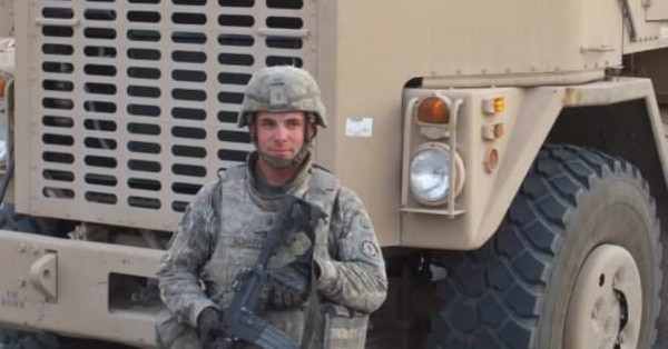 Sgt. Erin Schaefer spent a decade as an Army truck driver before an IED blast damaged his legs so badly they had to be amputated. Despite that setback, he is close to becoming a professional truck driver. (Photo provided by Erin Schaefer)