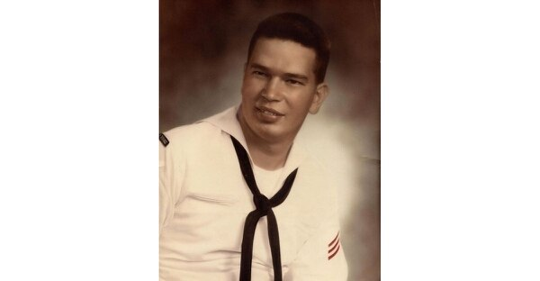Young Fireman Richard Benjamin Harrison during his days onboard the destroyer Twining in the early 1960s.