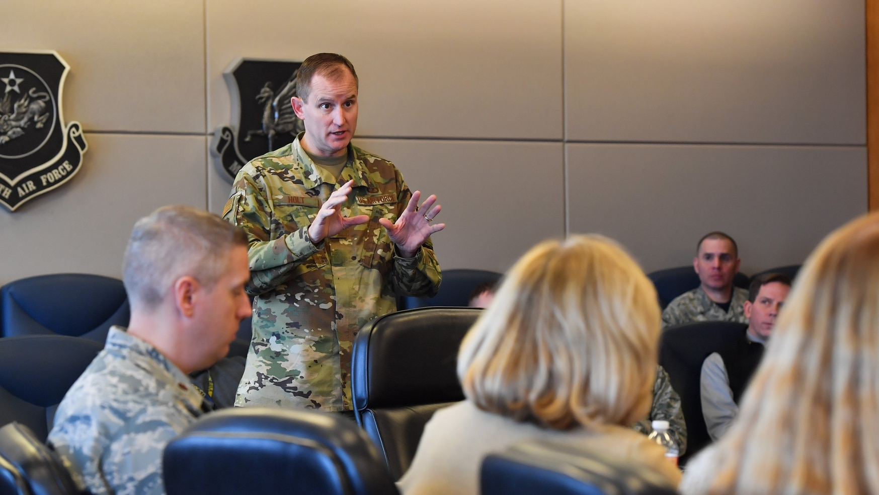 Maj. Gen. Cameron Holt, seen here in 2019, became a central figure for industry response during the first months of the COVID-19 pandemic. (Kathryn Calvert/U.S. Air Force)