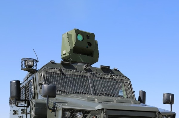 Turkish firm Aselsan developed the LSS, a laser defense system, shown here mounted on a vehicle. (Courtesy of Aselsan)