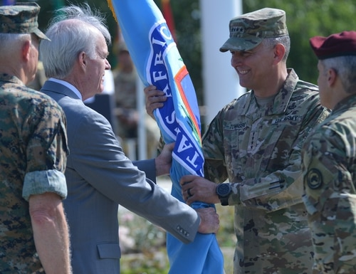 On July 26, 2019, Army Gen. Stephen Townsend assumed command of U.S. Africa Command, currently located in Stuttgart, Germany. (Staff Sgt. Grady Jones/Army)
