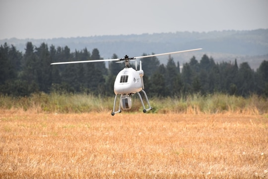 The new Black Eagle 25E has an electric engine. It was unveiled by Steadicopter in early September 2020. (Courtesy of Steadcopter)
