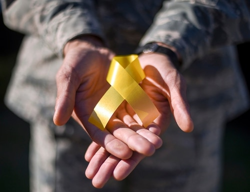 September is National Suicide Prevention Awareness Month. (Staff Sgt. Christine Groening/Air Force)