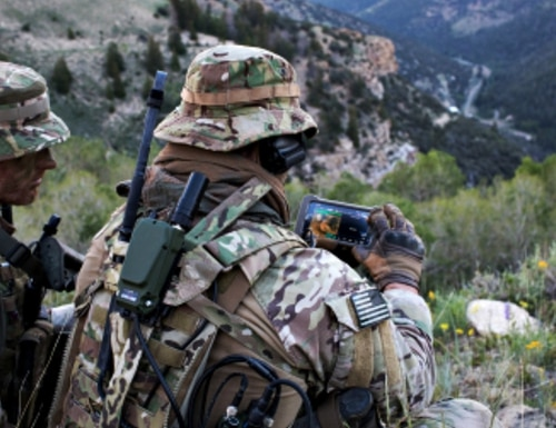 The AN/PRC-163 is a powerful multi-channel, software-defined radio system that enables advanced tactical communications and meets USSOCOM's rigorous requirements for a small, two-channel, multiband, multifunction and multi-mission tactical radio. (Photo: Business Wire)