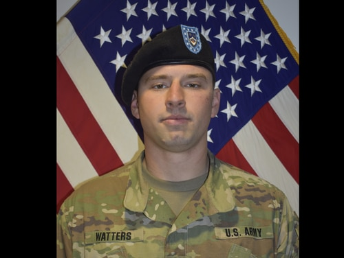 Spc. Drew Watters died Nov. 4, 2018, in a training accident at Joint Base Lewis-McChord, Wash. (Army)