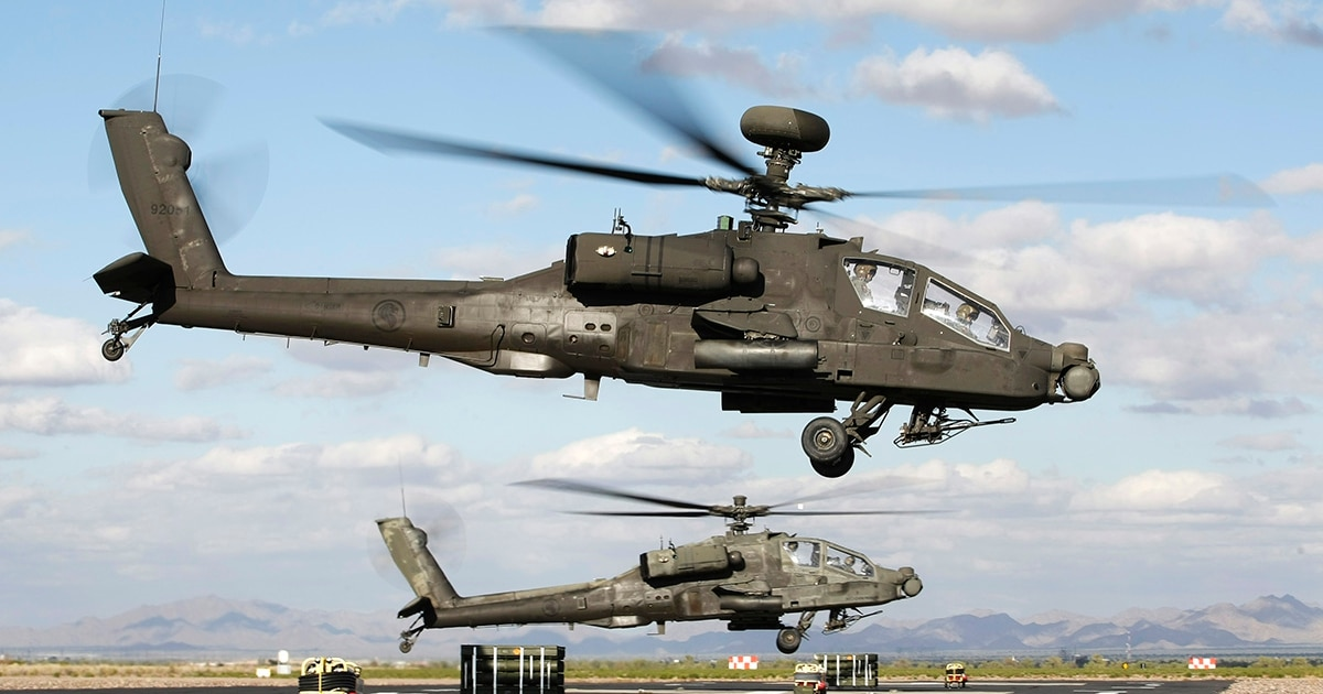 Singapore confirms it's using Apache helicopters in air