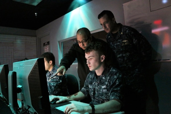 The Information Warfare Training Center in San Diego prepares operators for the realities of a new domain. (Lt. Camden Bennett/Navy)