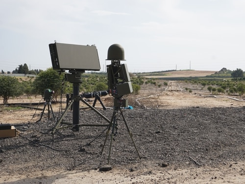 Drone Guard was originally built on adapted radar and existing electro-optical technology, but its manufacturer has updated the platform and shown it off to Defense News in a demonstration. (Seth J. Frantzman/Staff)