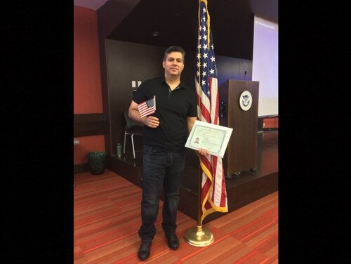 Dhurgham Abdulkareem, who spent two years serving as an Iraqi interpreter for U.S. troops, was pulled from a citizenship ceremony in early April for unspecified reasons. He finally became a citizen April 23, 2019, after his case was spotlighted by Military Times. (Courtesy Photo)