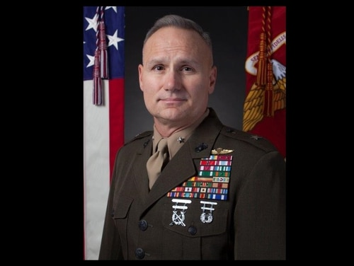 Brig. Gen. Norman L. Cooling, legislative assistant to the commandant of the Marine Corps, has been suspended pending the outcome of an investigation into allegations that he fostered a hostile work environment at the Corp's Office of Legislative Affairs. (Marine Corps)
