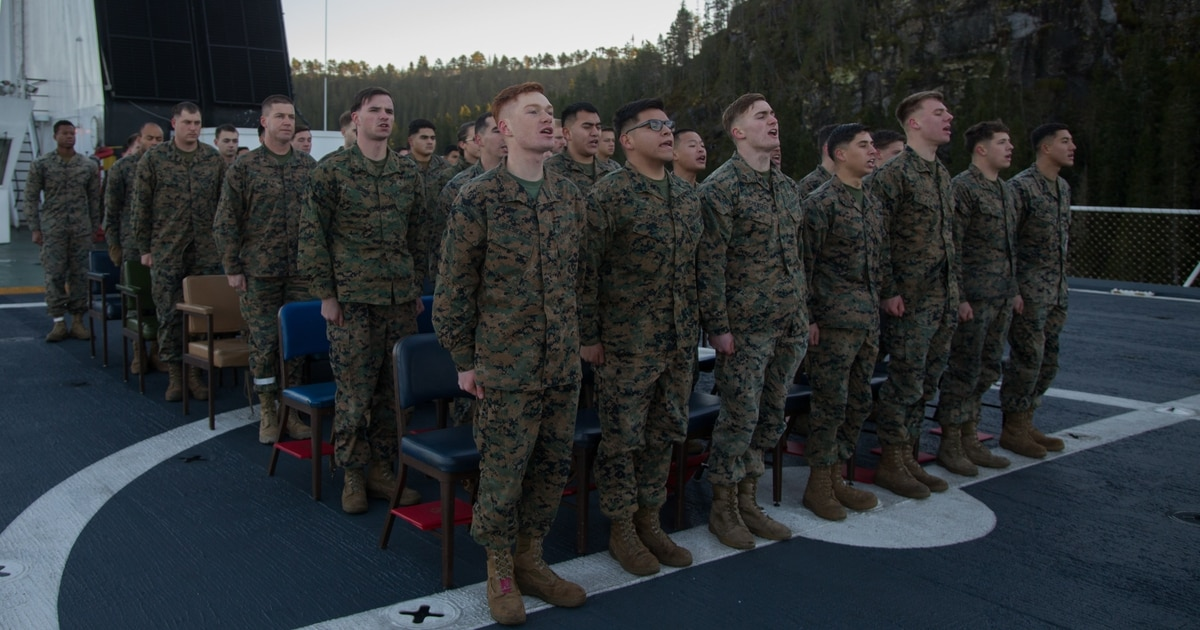 No more just snapping to attention for the Marines? Hymn ? the commandant has directed Marines to sing it out loud