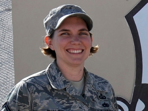 Senior Master Sgt. Sadie Chambers has been selected to teach as an accredited instructor as superintendent of the academy's Center for Character and Leadership Development. She was previously serving as the academy's religious affairs functional manager. (Master Sgt. Joshua Strang/Air Force)