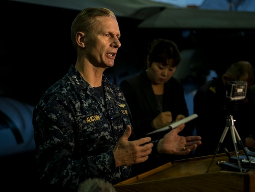U.S. Forces Pacific was set to fire Vice Adm. Joseph Aucoin from his job as 7th Fleet Commander on Aug. 22 after a rash of accidents in Asia. (MC3 Ryan McFarlane/Navy)