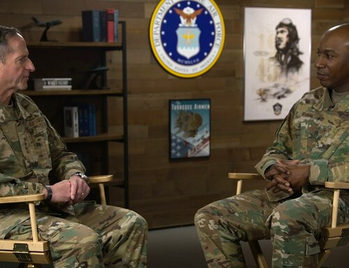 "Air Force Chief of Staff Gen. David Goldfein and Chief Master Sergeant of the Air Force Kaleth Wright hold a virtual town hall June 1 to discuss the issue of race within the service's ranks. ""We've got to have the difficult conversations ..."