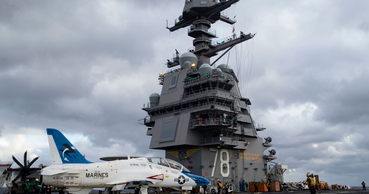 With laser weapons coming, the US Navy's newest super carrier has space and power to spare