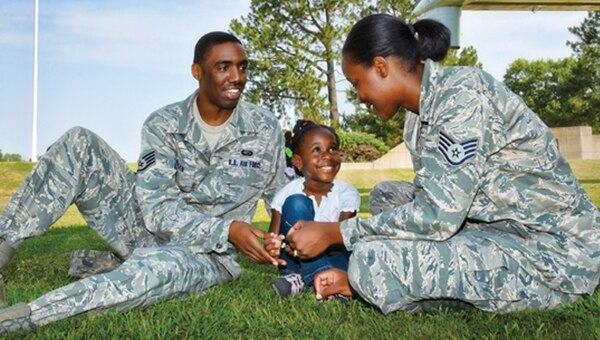 Under the new parental leave policy, parents can now choose among themselves who is the primary and secondary caregiver. (U.S. Air Force Courtesy Photo)