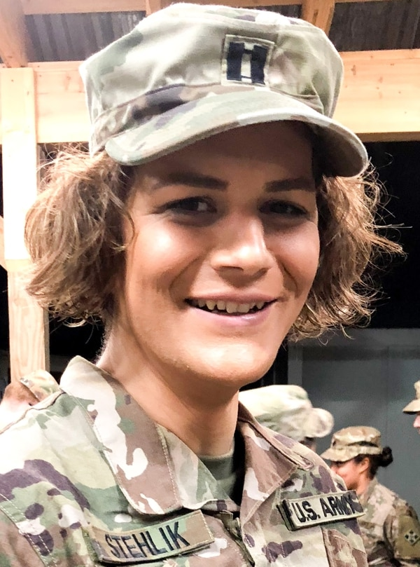 Army Capt. Alivia Stehlik deployed to Afghanistan this winter - to take the place of another service member who could not deploy. She is transgender, and will testify before Congress Wednesday on the impact the White House policy has had on her and other transgender service members. (Contributed photo)