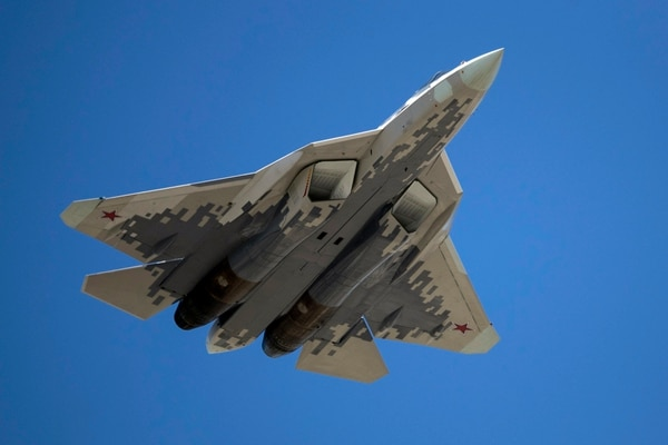 Turkey's president has expressed interest in buying the Russian Su-57 jet. (Pavel Golovkin/AP)