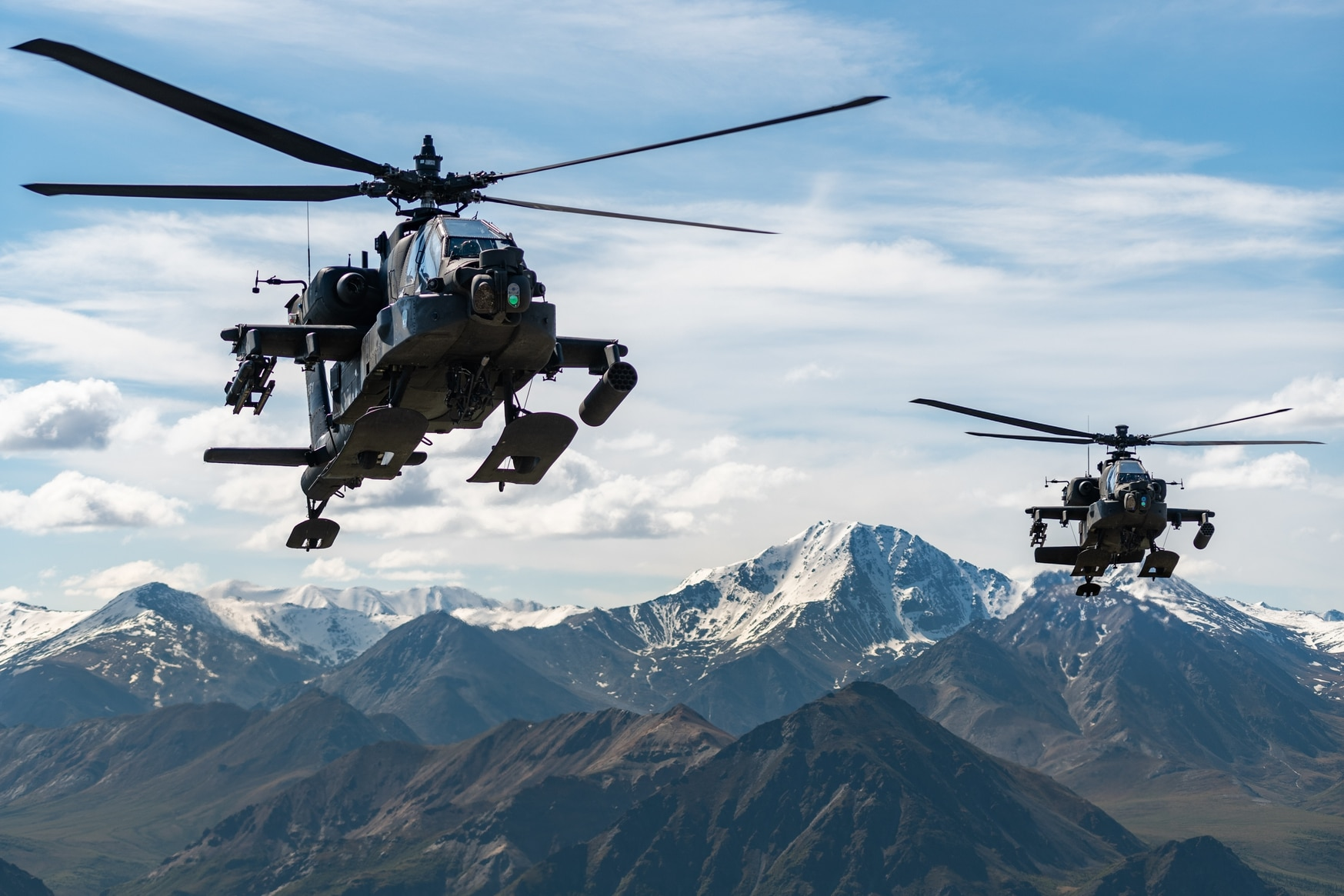 Helicopters flying low or near mountains could be at risk, a senior government official said. (CW2 Cameron Roxberry/U.S. Army)