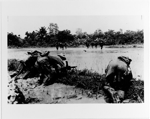 Viet Minh rebels in combat before the Geneva Accords. (U.S. Naval History and Heritage Command)