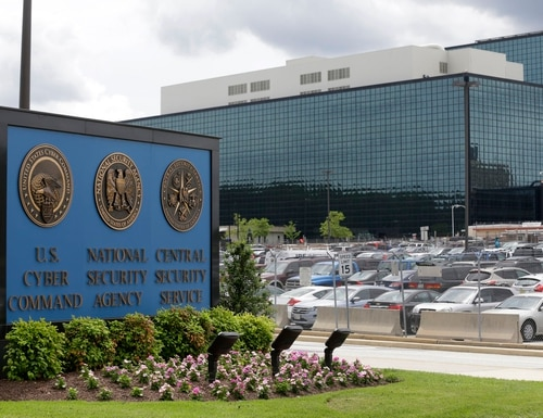 This June 6, 2013, file photo shows the National Security Administration (NSA) campus in Fort Meade, Md., where the U.S. Cyber Command is located.(Patrick Semansky/AP)