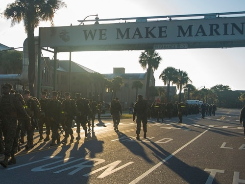 Gunnery Sgt. Joseph Felix is on trial for allegedly abusing recruits at Parris Island. (Lance Cpl. Aaron Bolser/Marine Corps)