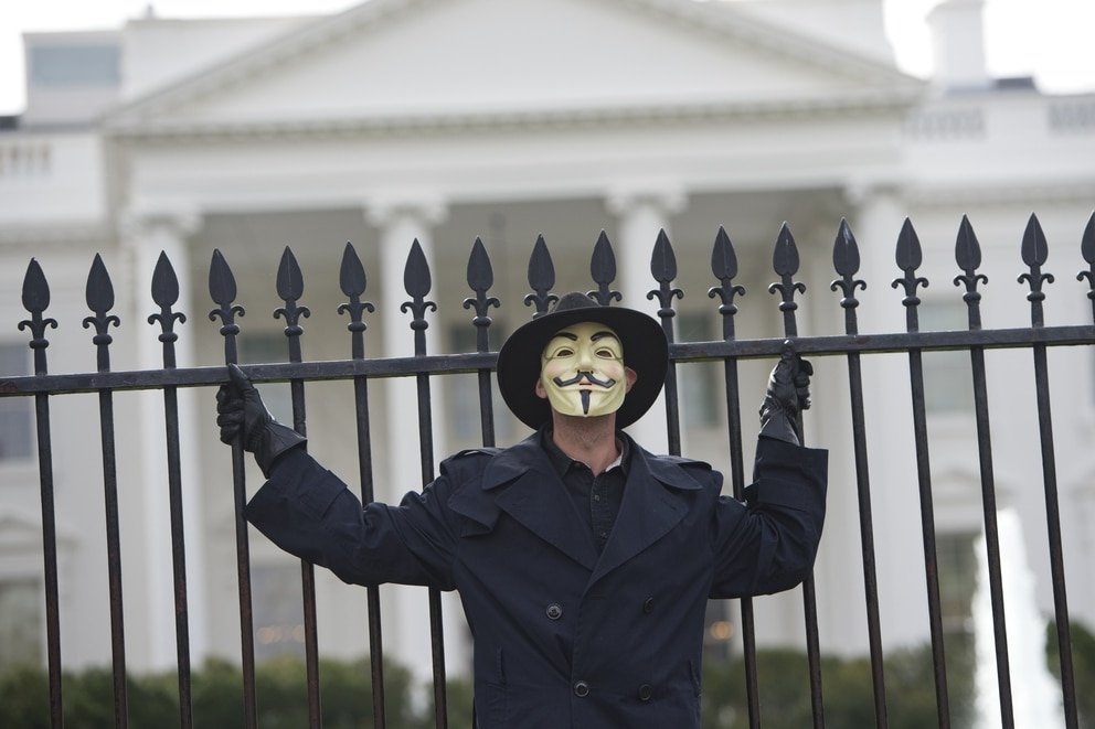 Anonymous comes after the White House SAUL LOEB/AFP/Getty Images