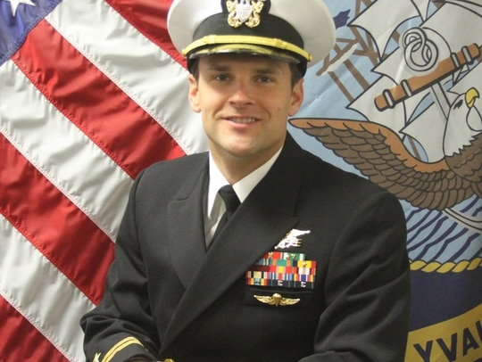 Lt. Mark Weiss, 35, died Nov. 11 in an off-duty spearfishing accident. (Navy)