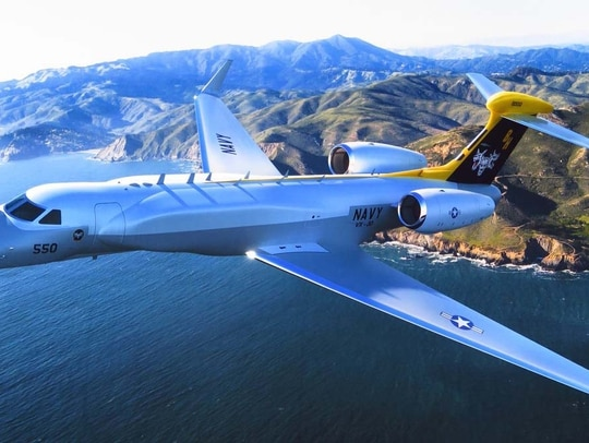 The Navy's future airborne early warning aircraft, based on a Gulfstream G550, will feature Raytheon telemetry and command transmitter subsystems.