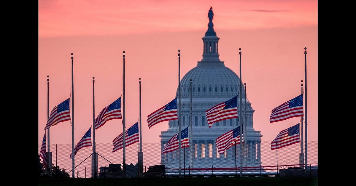 White House Flag Flies At Full Staff As Nation Honors John McCain
