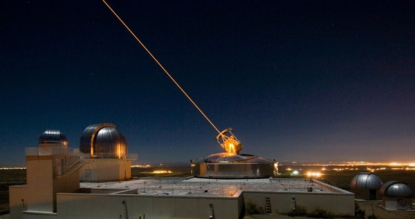 The Sodium Guidestar at the Air Force Research Laboratory's Starfire Optical Range resides on a 6,240 foot hilltop at Kirtland Air Force Base, N.M. The Army and Navy is developing its own laser weapons systems.