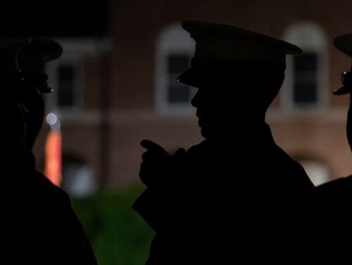 The United States Marine Corps holds an Evening Parade at Marine Barracks, Washington, D.C., May 10, 2019. (Lisa Ferdinando/DoD)