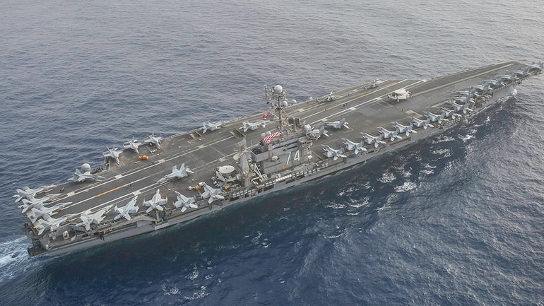 Why the US Navy has 10 ships, 130 aircraft and 9,000 ...