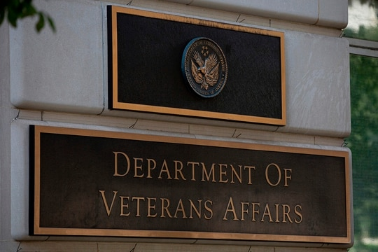 The Department of Veterans Affairs building is seen in Washington on July 22, 2019. (Alastair Pike/AFP via Getty Images)