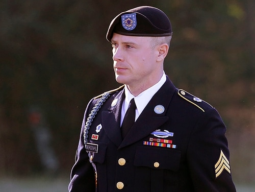 In this Jan. 12, 2016, file photo, Army Sgt. Bowe Bergdahl arrives for a pretrial hearing at Fort Bragg, N.C. (Ted Richardson/AP)