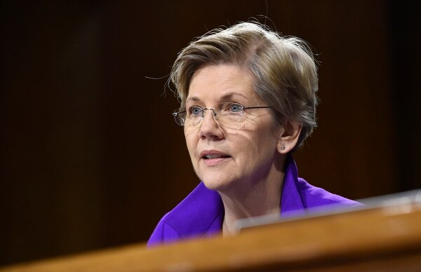 Sen. Elizabeth Warren, D-Mass., is one of a bipartisan group of lawmakers pushing for National Guard members to be promoted and paid without lengthy delays. (AP Photo/Susan Walsh)