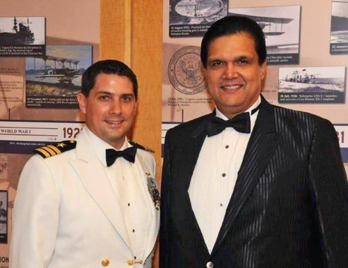 Convicted Cmdr. David Morales and Leonard