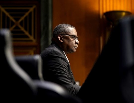 Defense Secretary Lloyd Austin has made ending sexual misconduct a top priority. (Photo by Greg Nash-Pool/Getty Images)