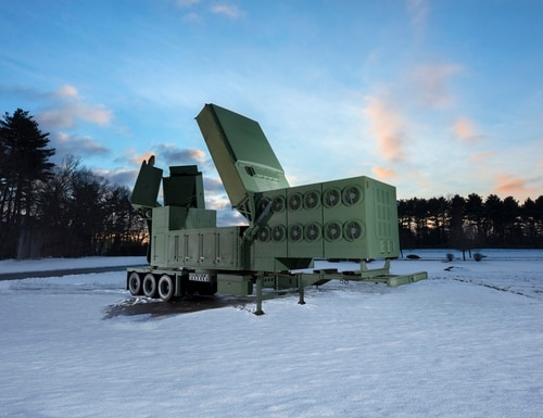 A full scale model of Raytheon's Lower Tier Air and Missile Defense Sensor, a next-generation radar that will defeat advanced threats like hypersonic weapons. Raytheon completed building the first LTAMDS radar antenna array less than 120 days after the U.S. Army selected the company to build the radar. (Photo courtesy of Raytheon)
