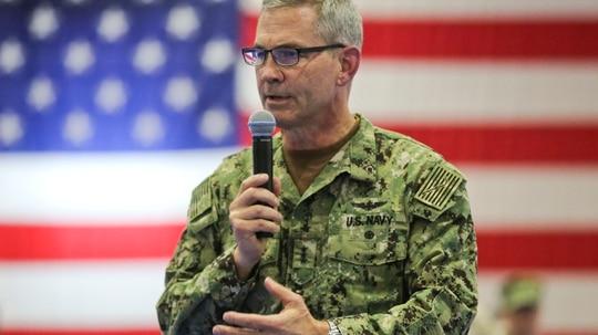 U.S. Navy Vice Adm. Scott A. Stearney, the commander of U.S.5th Fleet, killed himself in his Bahrain home on Dec. 1, 2018. (Marine Corps)