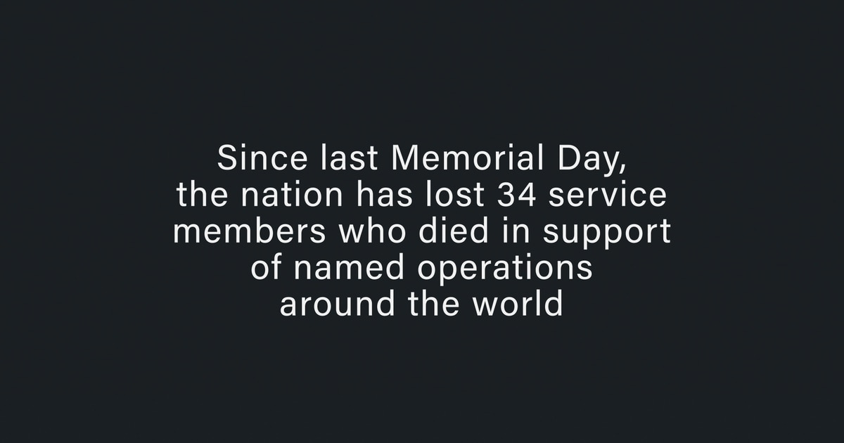 Military Times Honor the Fallen 2019 Memorial Day Video