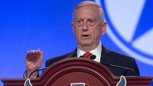 Secretary of Defense Jim Mattis speaks during the Air Force Association's Air, Space and Cyber Conference at National Harbor, Md., on Sept. 20, 2017. (Alan Lessig/Staff)