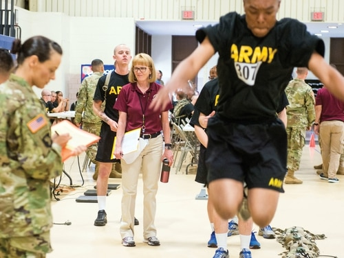 OPAT is a battery of four physical performance tests that the Army has administered since 2017 to all candidates seeking to enter active to identify who is most likely to succeed in combat military occupational specialties. A new study looks to determine which recruits are more susceptible to injury and how to prevent injuries. (Army)