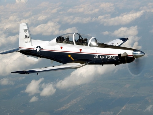 RANDOLPH AIR FORCE BASE, Texas -- The T-6A Texan II is phasing out the aging T-37 fleet throughout Air Education and Training Command. (Air Force photo by Master Sgt. David Richards)