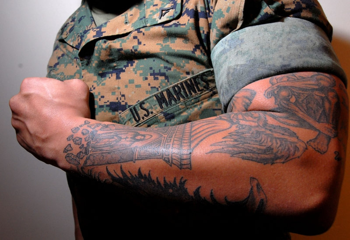 Combat vets say tattoo policy is big barrier to re-enlistment